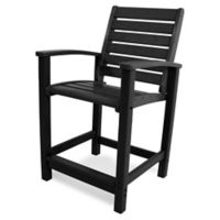 POLYWOOD® Signature Counter Chair in Black