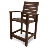 POLYWOOD® Signature Counter Chair in Mahogany