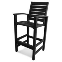POLYWOOD® Signature Bar Chair in Black
