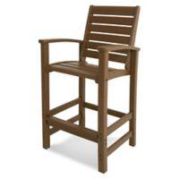 POLYWOOD® Signature Bar Chair in Teak