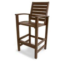 POLYWOOD® Signature Bar Chair in Mahogany