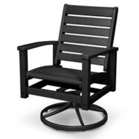POLYWOOD® Signature Swivel Rocking Chair in Black