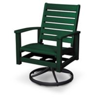 POLYWOOD® Signature Swivel Rocking Chair in Black/Green