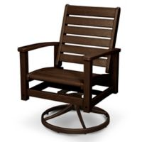 POLYWOOD® Signature Swivel Rocking Chair in Mahogany