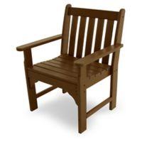 POLYWOOD® Vineyard Garden Arm Chair in Teak
