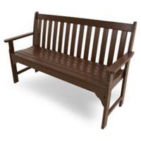 POLYWOOD® Vineyard Garden Bench in Mahogany