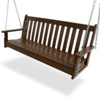 POLYWOOD® Vineyard Garden Porch Swing in Mahogany