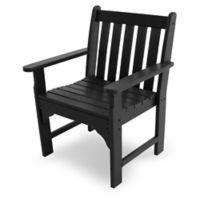 POLYWOOD® Vineyard Garden Chair in Black