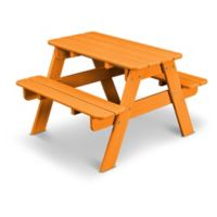 POLYWOOD® 30-Inch Kids' Picnic Table in Tangerine