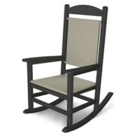POLYWOOD® Presidential Woven Rocker in Slate Grey/White
