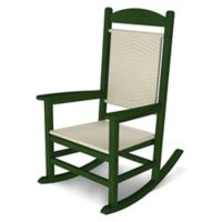 POLYWOOD® Presidential Woven Rocker in Green/White