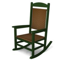 POLYWOOD® Presidential Woven Rocker in Green/Tigerwood