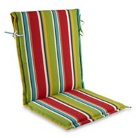 Stripe Sling Back Indoor/Outdoor Cushion in Cherry