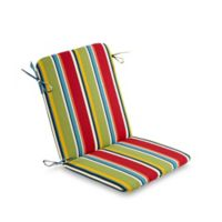 Stripe Mid Back Indoor/Outdoor Chair Cushion in Cherry