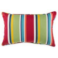 Stripe 13-Inch x 20-Inch Oblong Indoor/Outdoor Throw Pillow in Cherry