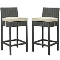 Modway Sojourn Outdoor Bar Stools in Antique Beige Sunbrella® Canvas (Set of 2)