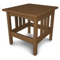 POLYWOOD® Mission End Table in Teak