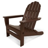 POLYWOOD® Classic Oversized Curveback Adirondack Chair in Mahogany