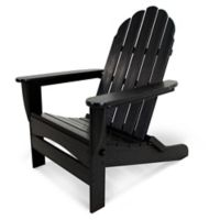 POLYWOOD® Classic Oversized Curveback Adirondack Chair in Black