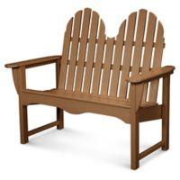 POLYWOOD® Classic Adirondack Bench in Teak
