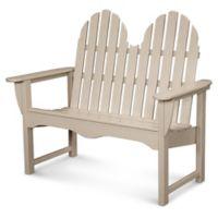 POLYWOOD® Classic Adirondack Bench in Sand