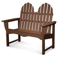 POLYWOOD® Classic Adirondack Bench in Mahogany