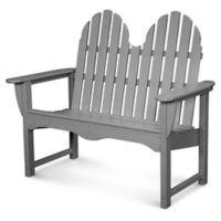 POLYWOOD® Classic Adirondack Bench in Slate Grey