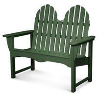 POLYWOOD® Classic Adirondack Bench in Green