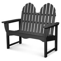 POLYWOOD® Classic Adirondack Bench in Black