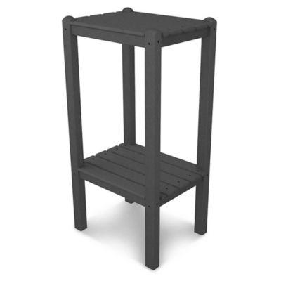 POLYWOOD® 2 Shelf Bar Side Table In Slate Grey