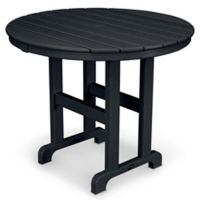 POLYWOOD® La Casa 36-Inch Round Dining Table in Black