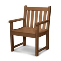 POLYWOOD® Traditional Garden Arm Chair in Teak