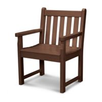 POLYWOOD® Traditional Garden Arm Chair in Mahogany
