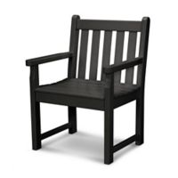 POLYWOOD® Traditional Garden Arm Chair in Black