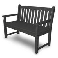 POLYWOOD® Traditional Garden 48-Inch Bench in Slate Grey