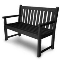 POLYWOOD® Traditional Garden 48-Inch Bench in Black