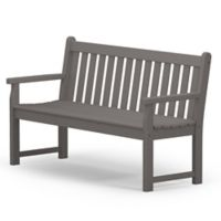 POLYWOOD® Traditional Garden 60-Inch Bench in Slate Grey