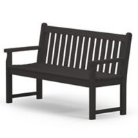 POLYWOOD® Traditional Garden 60-Inch Bench in Black