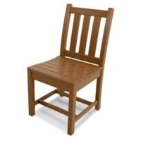 POLYWOOD® Traditional Garden Dining Side Chair in Teak