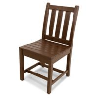 POLYWOOD® Traditional Garden Dining Side Chair in Mahogany