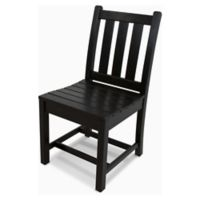 POLYWOOD® Traditional Garden Dining Side Chair in Black