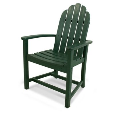 POLYWOOD® Classic Adirondack Dining Chair In Green