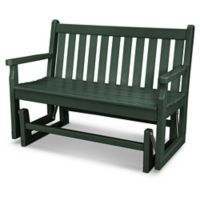 POLYWOOD® Traditional Garden Glider in Green