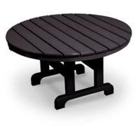 POLYWOOD® La Casa 36-Inch Round Conversation Table in Black