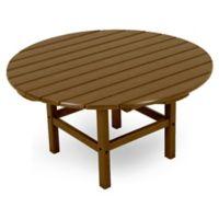 POLYWOOD® La Casa 38-Inch Round Conversation Table in Teak