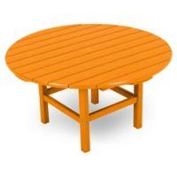 POLYWOOD® La Casa 38-Inch Round Conversation Table in Tangerine