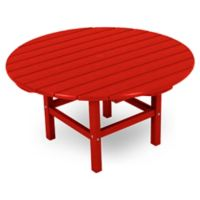 POLYWOOD® La Casa 38-Inch Round Conversation Table in Sunset Red