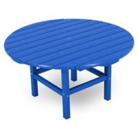 POLYWOOD® La Casa 38-Inch Round Conversation Table in Pacific Blue