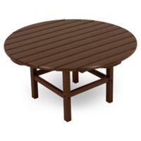 POLYWOOD® La Casa 38-Inch Round Conversation Table in Mahogany