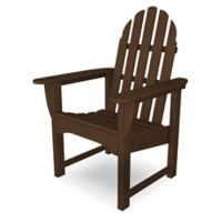 POLYWOOD® Classic Adirondack Dining Chair in Mahogany